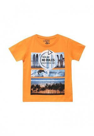 Футболка Losan. Цвет: оранжевый