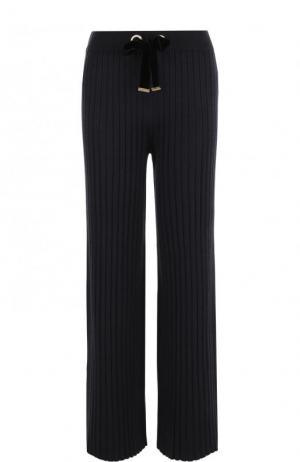 Расклешенные брюки фактурной вязки Mother Of Pearl. Цвет: темно-синий