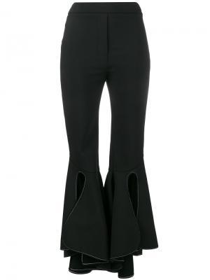 Узкие брюки клеш Ellery. Цвет: чёрный