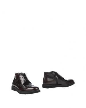 Полусапоги и высокие ботинки GIANFRANCO LATTANZI. Цвет: баклажанный