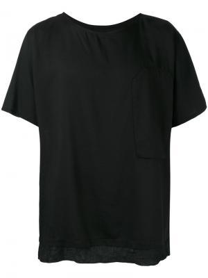 Многослойная футболка Alchemy. Цвет: чёрный