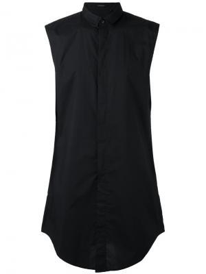 Длинная рубашка без рукавов Unconditional. Цвет: чёрный