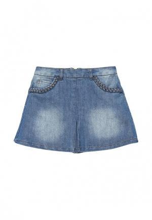 Юбка джинсовая Acoola. Цвет: голубой