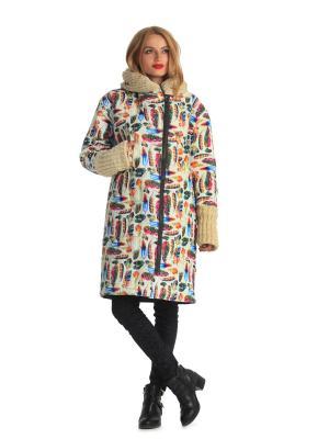 Куртка Artwizard. Цвет: зеленый, бежевый, белый