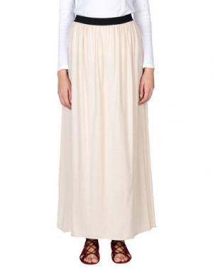 Длинная юбка GOLD CASE. Цвет: бежевый