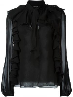 Блузка с оборками Giambattista Valli. Цвет: чёрный