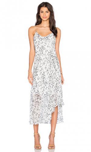 Платье миди printed slip OLCAY GULSEN. Цвет: белый