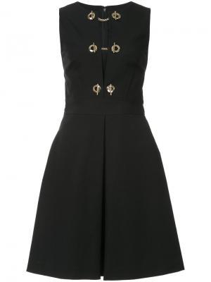 Платье без рукавов с отделкой Derek Lam 10 Crosby. Цвет: чёрный