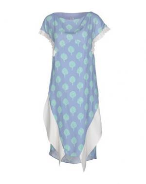 Платье до колена PINKO UNIQUENESS. Цвет: пастельно-синий