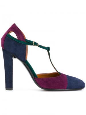 Colour-block pumps Michel Vivien. Цвет: многоцветный