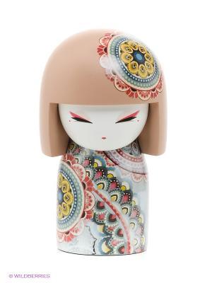Кукла-талисман Харуйо Kimmidoll. Цвет: бежевый, голубой