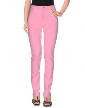 Джинсовые брюки JEFF. Цвет: розовый