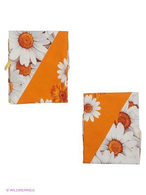 Набор полотенец круглых 2 шт. Метиз. Цвет: оранжевый