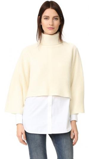 Укороченный свитер с высоким воротником Edition10. Цвет: розовый