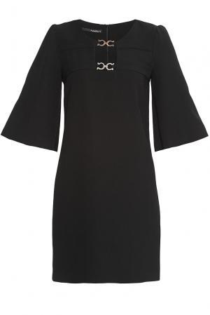 Платье из искусственного шелка 177438 Anna Rita N. Цвет: черный