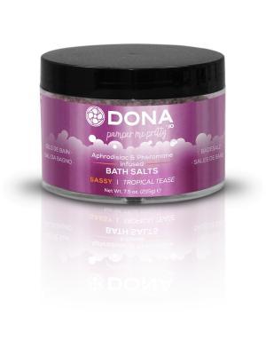 Соль для ванны меняющая цвет воды DONA Bath Salt Sassy Aroma: Tropical Tease SYSTEM JO. Цвет: фиолетовый, розовый