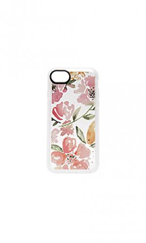 Floral pink gray iphone 7 case Casetify. Цвет: розовый