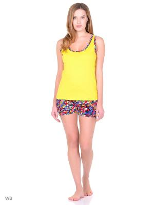 Пижама Фрейя Фрей. Цвет: желтый
