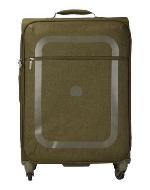 Чемодан/сумка на колесиках DELSEY. Цвет: зеленый-милитари