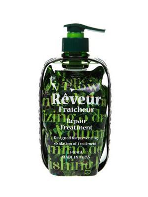 Reveur fraicheur repair живой кондиционер для восстановления поврежденных волос 340 мл. Цвет: зеленый