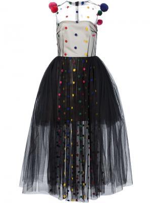 Платье Pom Natasha Zinko. Цвет: чёрный