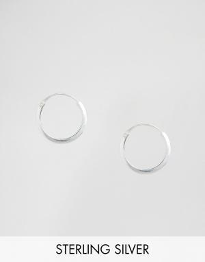 Kingsley Ryan Серебряные серьги-кольца 14 мм. Цвет: серебряный