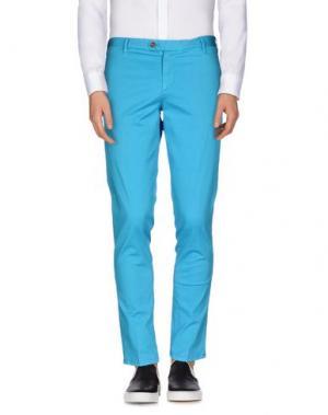 Повседневные брюки TAKESHY KUROSAWA. Цвет: бирюзовый