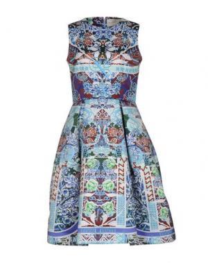 Платье до колена MARY KATRANTZOU. Цвет: синий