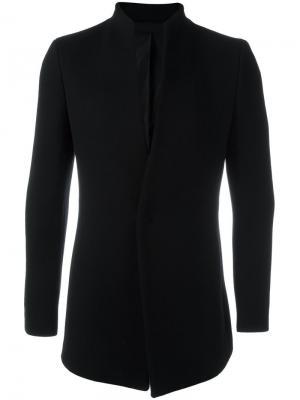 Пиджак с потайной застежкой System Homme. Цвет: чёрный