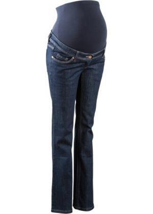 Широкие джинсы для беременных (темный деним) bonprix. Цвет: темный деним