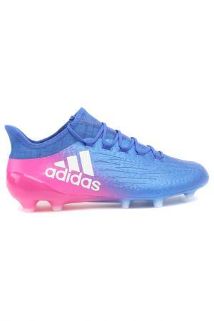 Футбольные бутсы (мяг.покр.) adidas. Цвет: синий, розовый