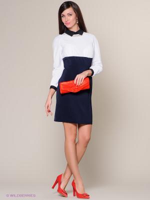 Платье Colambetta. Цвет: синий, белый, черный