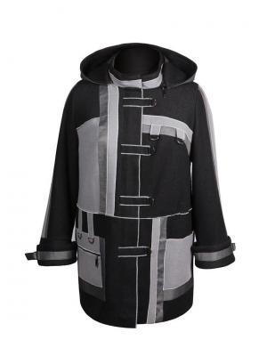 Пальто KR. Цвет: черный, темно-серый