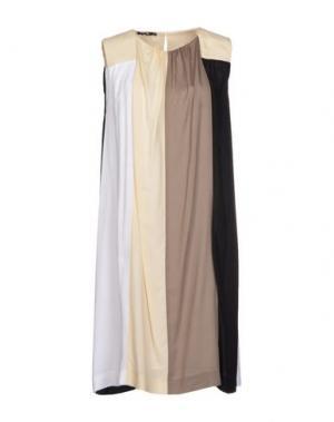 Платье до колена NVL__NUVOLA. Цвет: бежевый