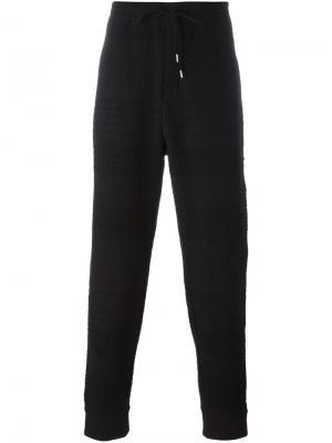 Текстурированные спортивные брюки Chalayan. Цвет: чёрный