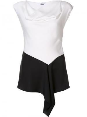 Драпированная блузка Vionnet. Цвет: белый