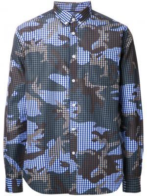 Рубашка Camogingham Hbns. Цвет: синий