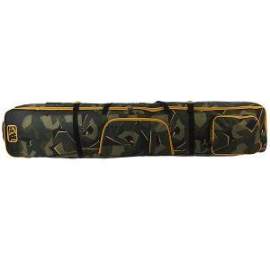 Чехол для лыж  Boxed Wheelie Skibag Camo Apo. Цвет: черный,зеленый