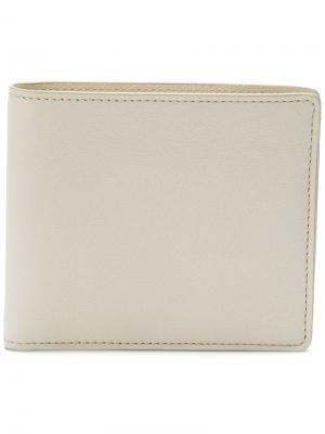 Классический бумажник Maison Margiela. Цвет: телесный