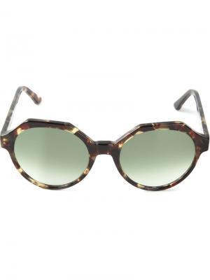 Солнцезащитные очки Mary Kyme. Цвет: коричневый