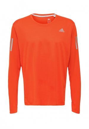 Лонгслив спортивный adidas Performance. Цвет: оранжевый
