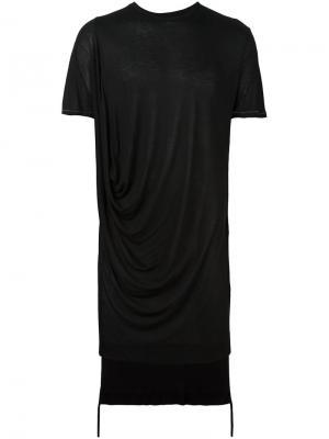 Драпированная футболка Tom Rebl. Цвет: чёрный