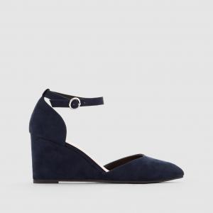 Туфли на танкетке с пряжкой R édition. Цвет: темно-синий,черный