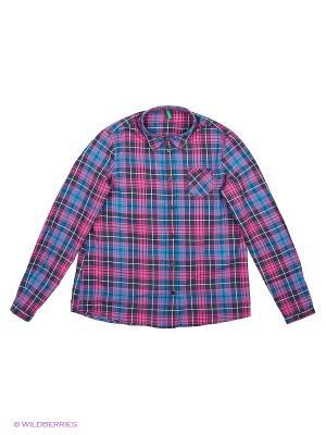 Рубашка United Colors of Benetton. Цвет: синий, сиреневый, темно-синий