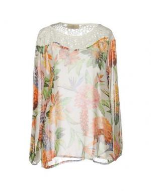 Блузка JUST FOR YOU. Цвет: белый