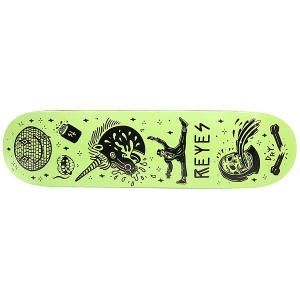 Дека для скейтборда  Reyes Tanked Pro Black/Green 31.6 x 8 (20.3 см) Creature. Цвет: черный,светло-зеленый