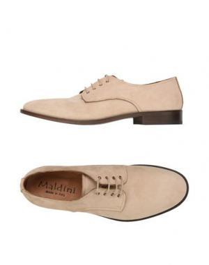 Обувь на шнурках MALDINI. Цвет: бежевый
