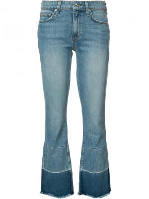 Слегка потертые укороченные джинсы Derek Lam 10 Crosby. Цвет: синий