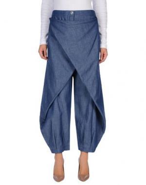 Джинсовые брюки OBLIQUE CREATIONS. Цвет: синий