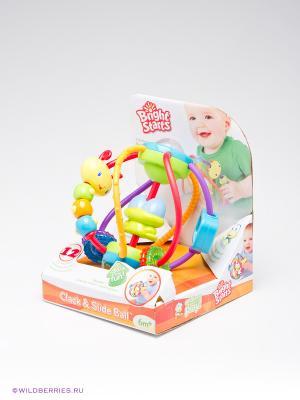 Развивающая игрушка Логический шар BRIGHT STARTS. Цвет: зеленый (осн.), желтый (осн.)